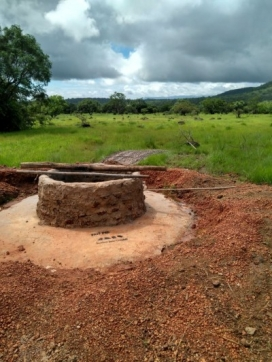 The IJG has been able to build a new well in the village of Sahoro.