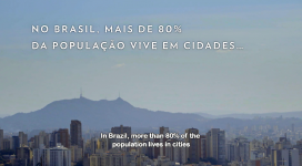 80% of the population in Brasil live in big cities. Photo: Instituto Alana