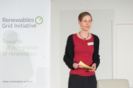 Antina Sander, Deputy Executive Director at RGI, at the 5th European Grid Conference / Photograph: RGI