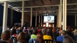 900 people attended the interview with Khaled at the Fabra i Coats venue, Barcelona. Photo: Marta Rius