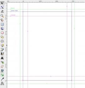 Image explaining the Inkscape guides. Photo: Roger-Rognu