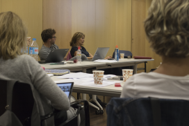 Third sector leaders during a workshop.   Source: Adrià Milan