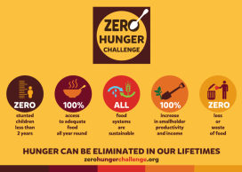 5 points proposed by Zero Hunger. Image: The Hunger Project UK