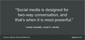 Social media are stronger when there's a conversation / Photo: sproutsocial.com