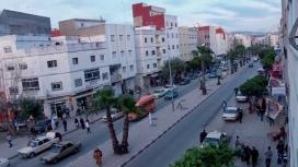 Avenue in Beni Makada, Tanger