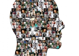 Head image including many face photographs, an example of a creative content / Image: Pixabay