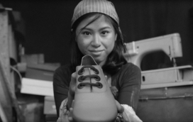 "Frame of ""Change your shoes"" campaign video / Labour Behind The Label"