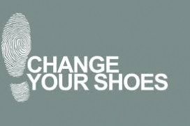 """Change your shoes"" campaign logo"