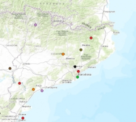 Socio-environmental conflicts in Catalonia. Image: EJAtlas