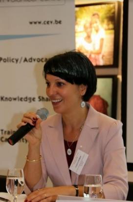 President of CEV, Cristina Rigman.