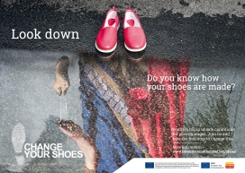 """Change your shoes"" campaign poster"