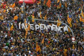 One of several demonstrations in favour of the Independence of Catalonia.