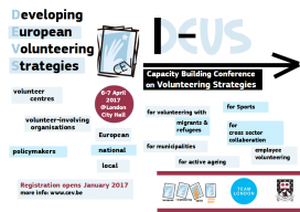 Developing European Volunteering Strategies. Conference flyer / Image: CEV