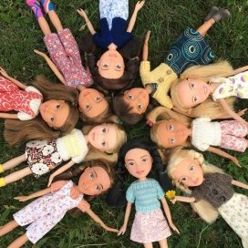 Some of the dolls created by Singh. Photo: Instagram
