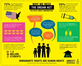 Amnesty International's Share DREAM Act Infographic / Image: amnestyusa.org