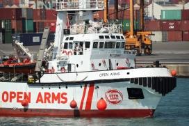 Proactiva Open Arms organization rescue boat