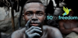Graphic material from the campaign. Image: 50 For Freedom