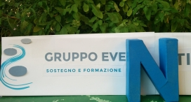 The logo of the association represents a series of stepping stones to help people cross the troubled waters of bereavement / Photo: Gruppo Eventi