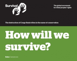 """How will we survive?"" report. Image: Survival International"
