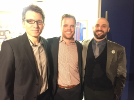 Daniel Parcerisas, President of the Catalan Institute of America, in the middle. Photo: The Catalan Institute of America