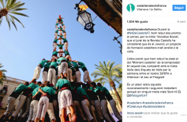 An image from the Castellers de Vilafranca Instagram account