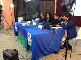 Jelen Amador, at the back, at one of Drom's meetings / Associació gitana de dones Drom Kotar Mestipen