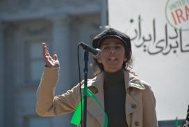 Masih Alinejad at San Francisco for Iran Global Day of Action. Photo: Steve Rhodes, Flickr