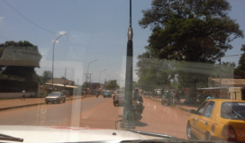 The capital of Central African Republic from a MSF's car.     Source: MSF