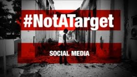 #NotATarget social media campaign against the Syrian war