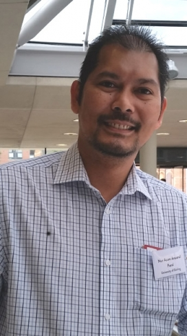 Nur Azam Anuarul Perai presented his first findings at the New Researchers Sessions in the Voluntary Sector and Volunteering Research Conference organized by the NCVO, IVR and VSSN / Photograph: nonprofit.xarxanet.org
