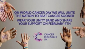 Become a World Cancer Day Ambassador for Cancer Research UK. Image: Linkedin