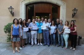 Teamwork of the Salesian presence in Catalonia where the Vols office is. Photo: Twitter
