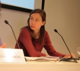 Pascale Coissard, the spokesperson of the Catalan Refugee Aid Commission - Photo: CCAR
