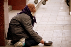 Homeless woman. Photo: Public Domain Picture