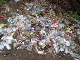 Plastic  waste at Batlapalem, Andra Pradesh.