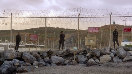 National police on the Ceuta border