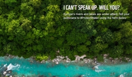 The campaign #ProtectWater is promoted by more than one hundred European environmental organizations.  Source: wwf.eu