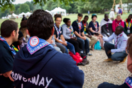 Young people taking part in a Roverway event.      Source: Scout.org