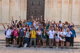 Young people taking part in an international event in Malta.  Source: Scout.org
