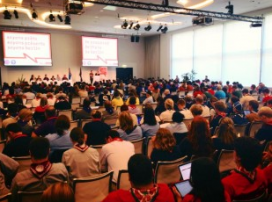 Youth workers taking part in the European Scout Conference.  Source: Scout.org