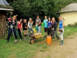 SCI International volunteers