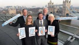 Representatives from the Sligo 2017 candidature celebrating the nomination / Photo: @VolunteerSligo, Twitter