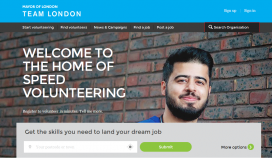 Speed Volunteer is an online platform for speed volunteering opportunities / Photo: speedvolunteer.london.gov.uk