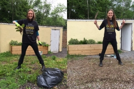 Before and after weeding at Goblin Combe Eco Lodge! / Photograph: Neighbourly