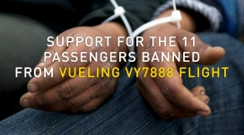 Support for the 11 passengers banned. Photo: #YouloveFlying