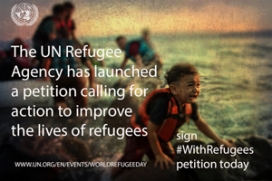 #WithRefugees material. Image: UNCHR