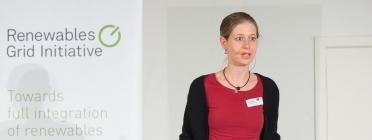 Antina Sander, Deputy Executive Director at RGI, at the 5th European Grid Conference / Photograph: RGI