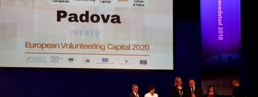 Padova was announced as the 2020 European Volunteering Capital.  Source: CEV