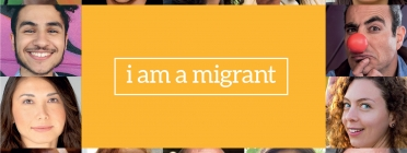 Front image of the i am a migrant platform's website