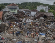 The tsunami has destroyed hundreds of houses causing the affected population to have moved.